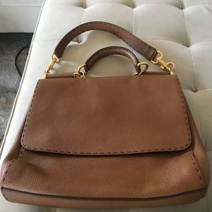 Dolce&Gabanna Miss Sicily pebbled large satchel